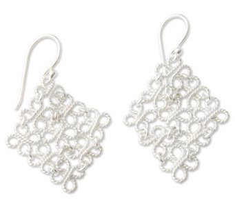 "Novica Artisan Crafted Sterling ""Clover"" Earrings - J299235"