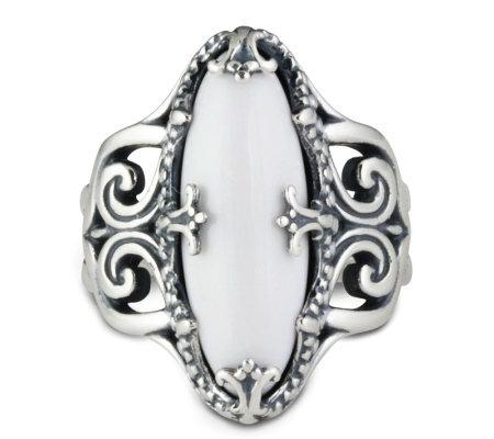 Qvc White Agate Ring