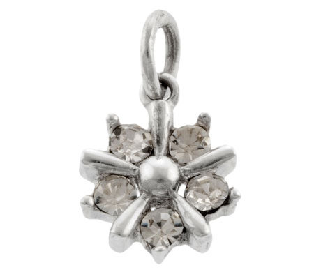 Mixers Sterling Crystal Flower Pendant
