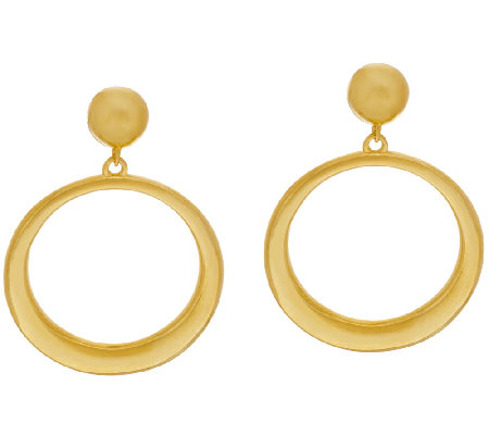 The Elizabeth Taylor Front Facing Hoop Earrings