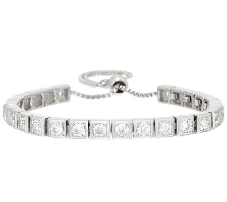 Diamonique 2.60 cttw Adjustable Bracelet, Sterling