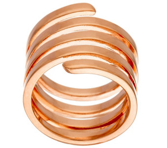 """As Is"" Bronze Polished Coil Wrap Ring by Bronzo Italia - J328335"