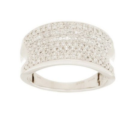 """As Is"" Micropave' Concave Band Diamond Ring, 14K, 1/2cttw"
