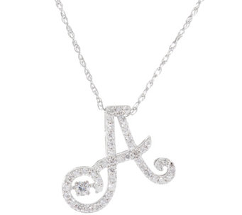 Dancing Diamond Initial Necklace, 1/4ct Sterling Affinity - J332935