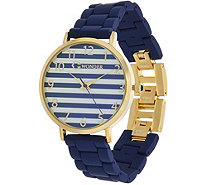 C. Wonder Nautical Stripe Dial Matte Finish Bracelet Watch - J335535