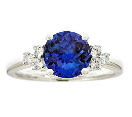 Premier 2.30cttw Tanzanite & 1/5cttw Diamond Ring, 14K