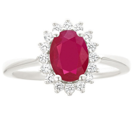 Premier 1.25cttw Oval Ruby & Diamond Ring, 14K