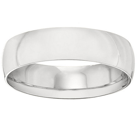 18K Gold 6mm High Polish Comfort Fit Wedding Band Ring