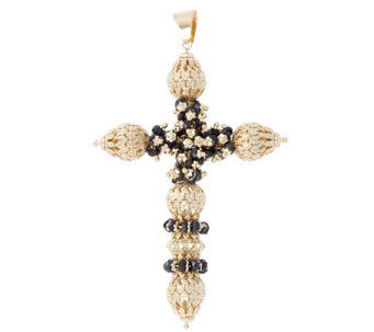 Arte d'Oro Gemstone & Filigree Bead Cross Pendant, 18K - J343135