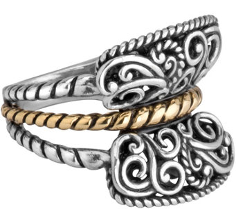Carolyn Pollack Sterling & Brass Rope Ring - J343835