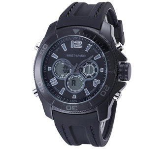 Wrist Armor C29 Multifunction Watch - Stealth Dial Black Strap - J345735