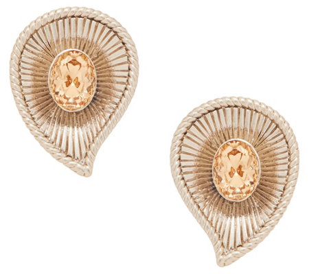 Grace Kelly Collection Swirl Simulated Gemstone Earrings