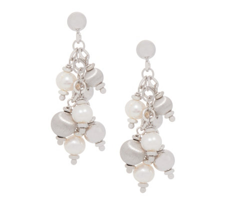 Honora Cultured Pearl & Bead Earrings Sterling or Clad