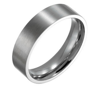 Forza Men's 6mm Steel Flat Brushed Ring - J109536