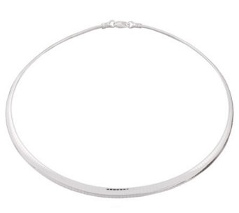 "UltraFine Silver 20"" 6mm Omega Necklace, 28.5g - J109736"
