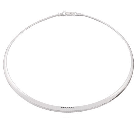 "UltraFine Silver 20"" 6mm Omega Necklace, 28.5g"