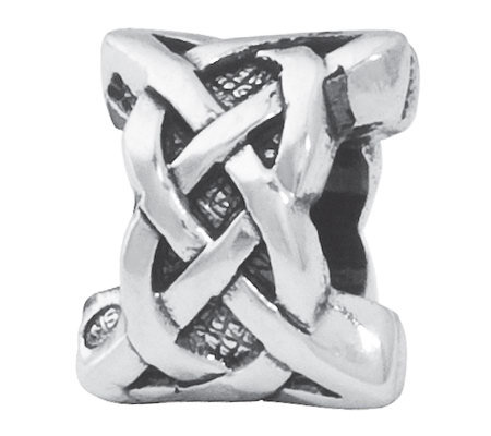 Prerogatives Sterling Silver Celtic Weave Bead