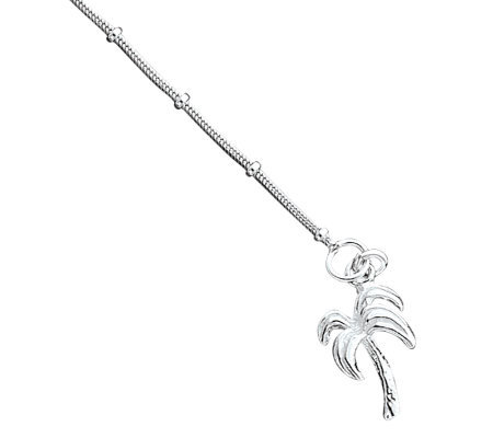 Sterling Palm Tree Anklet