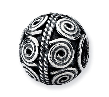 Prerogatives Sterling Crop Circle Artisan Bead