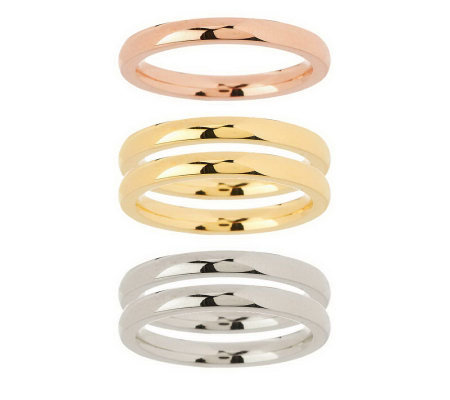 Steel by Design Set of 5 Stack Rings