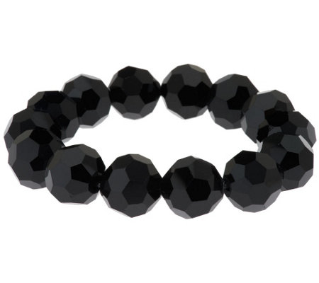 Linea by Louis Dell'Olio Facet Glass Bead Stretch Bracelet