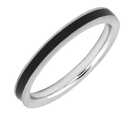 Simply Stacks Sterling Epoxy Enamel 2.25mmStackable Ring