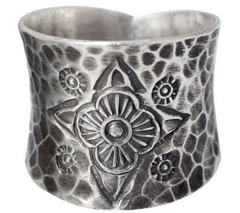 "Novica Artisan Crafted Sterling ""Dancing Flowers"" Ring - J310036"