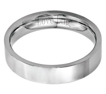 Stainless Steel 5mm Flat Polished Engravable Ring - J314236