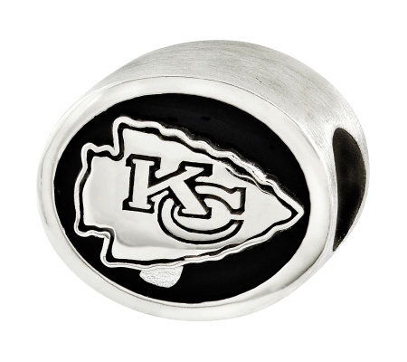 Sterling Kansas City Chiefs NFL Bead