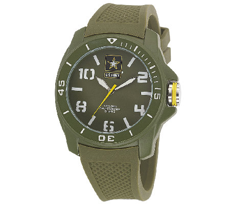 Wrist Armor Men's U.S. Army C25 Green & White Watch