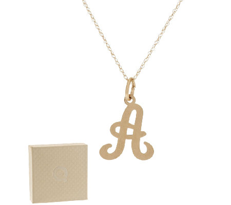 "14K Gold Initial Pendant w/18"" Chain"