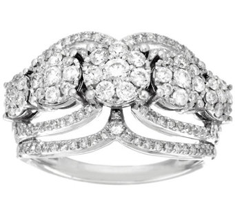5-Stone Cluster Design Diamond Ring, 14K 1.00 cttw by Affinity - J317536