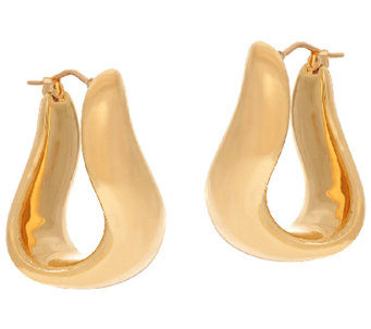 "Oro Nuovo 1"" Polished Bold Twist Hoop Earrings, 14K - J324636"