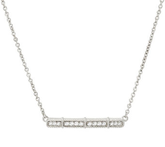 Judith Ripka Sterling Diamonique Bar Necklace - J326536