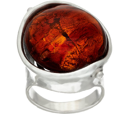 Kalos by Hagit Sterling Silver and Glass Sedona Ring