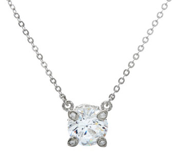 Diamonique 2.15 cttw Solitaire Necklace, Platinum Clad - J328636