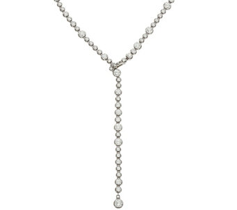 Judith Ripka Sterling 55.75 cttw Diamonique Tennis Y Necklace - J332936