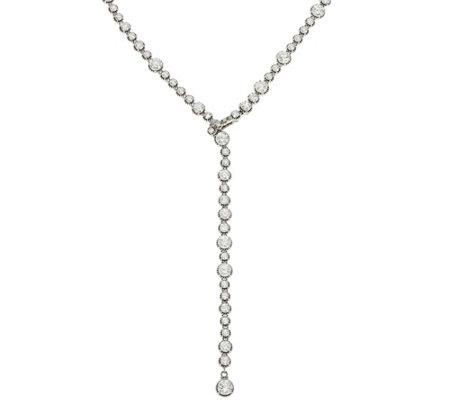 Judith Ripka Sterling 55.75 cttw Diamonique Tennis Y Necklace