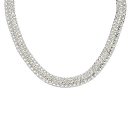 """As Is"" Sterling Silver 20"" Woven Necklace by Silver Style"