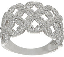 White Diamond Floral Ring, 1/3 cttw, Sterling, by Affinity - J352036