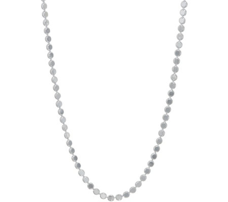 """As Is"" Ultrafine Silver 36"" Polished Chain Necklace 20.5g"
