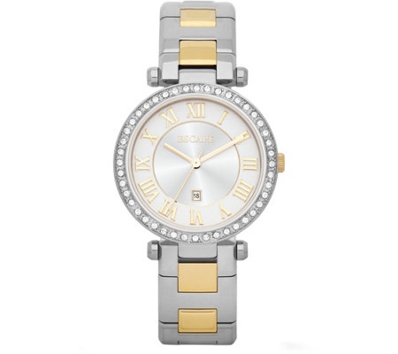Escape Ladies Two-Tone Crystal Stainless SteelWatch