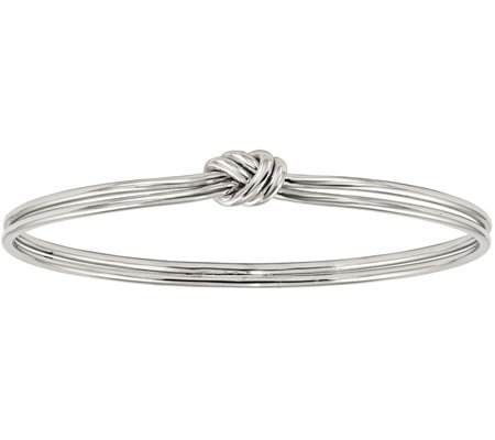 Sterling Knotted Double Bangle, 13.8g