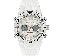 Sean John Men's Analog Digital White Silicone Watch - J380836