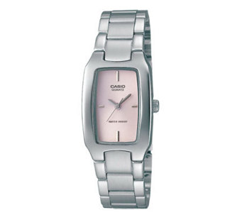 Casio Women's Classic Pink Dial Watch - J106937