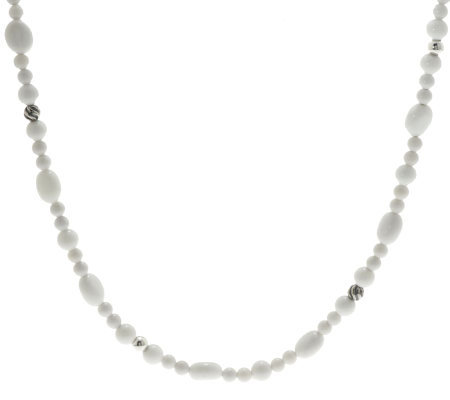 "Carolyn Pollack Gardenia Sterling 32"" Necklace"