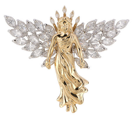 Nolan Miller's My Beautiful Inspiration Two-tone Angel Pin