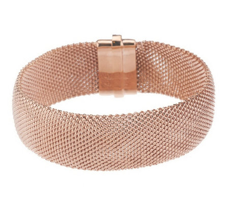 """As Is"" VicenzaSilver Sterling Large Mesh Bracelet"