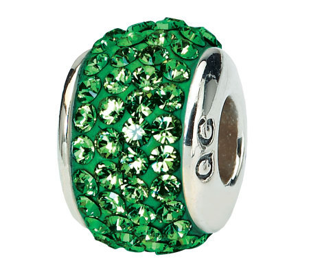 Prerogatives Sterling Green Full Swarovski Crystal Bead