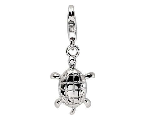 Amore La Vita Sterling Polished Turtle Charm